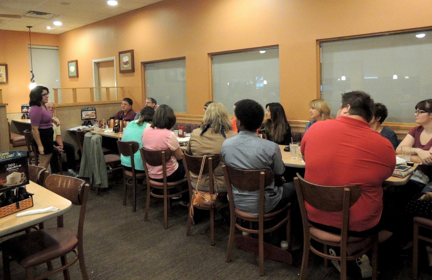 First kickoff meeting, led by Nicole Garcia and Dan Voss at the local IHOP. Here, the mentors and mentees first got to know one another and planned what they wanted to work on throughout the year.